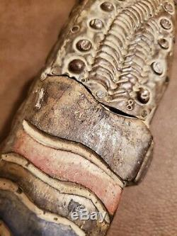 35 Hand Carved Wooden Alligator Crocodile Walking Stick Cane Rare Unique