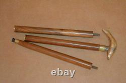36 wooden stick Brass walking stick fish style handle cane shaft good gift USA