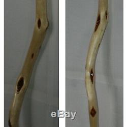 54'' Crooked Wooden Wizard Walking Staff, Kinky Shaman Stave Rustic Hiking Stick