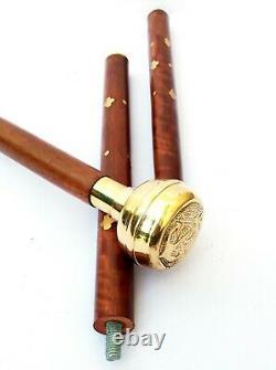 Anchor Brass Head W Handle Victorian Design Wooden Walking Stick cane Best gift