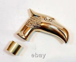 Antique Brass EAGLE Handle For Wooden Walking Stick Cane LOT OF 10 PCS Gift