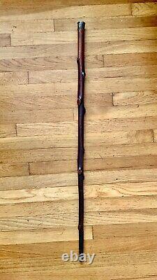 Antique Irish Blackthorn Cane Walking Stick 1848 Shillelagh Wooden 36