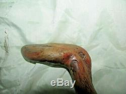 Antique Natural Stick Wooden Duck Head Shape/ Walking Cane Stick