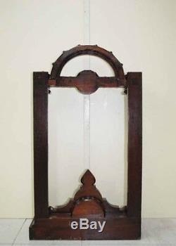 Antique Umbrella Stand Furniture Entryway Wooden Hallway Walking Stick Can