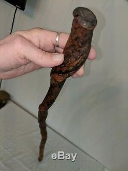 Antique Vintage 37 Wood Wooden Twisted Rustic Walking Stick Cane