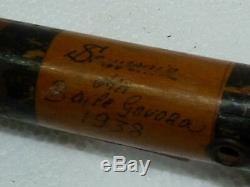 Antique Wooden Walking Stick Souvenir from Bile Govora Romania 1938, L 92.5 cm