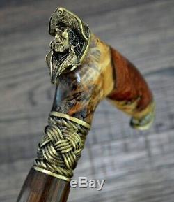 BURL Canes Walking Sticks Wood Reeds Bronze Wooden Handmade Cane Stick Men's #15
