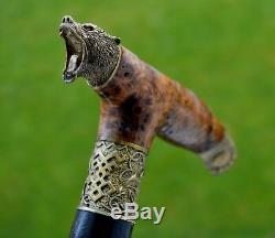 BURL Canes Walking Sticks Wooden Handmade Men's Accessories Cane NEW GRIZZLY PAW