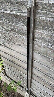 Beautiful Vintage Wooden Silver Topped Walking Stick Cane (C3)