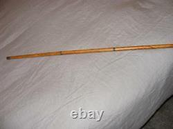 Bookmaker Wooden Walking Stick Cane Prohibition Era Concealed Pen Pencil