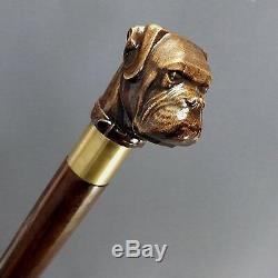 Boxer dog Wooden Handmade Cane Walking Stick Unique Men's Accessories