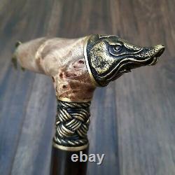 Burl Canes Sticks Walking Cane wooden wood Walking Stick Handmade Bronze M53