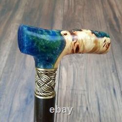Burl Hybrid Canes Walking Sticks Cane wooden wood Stick Handmade Bronze N7