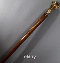 COBRA BRONZE Handmade Cane Walking Stick Wooden Unique Gift Men's Accessories