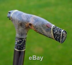 Cane Reed BURL Wooden Handmade Walking Stick Unique Accessories Canes FALCON NEW