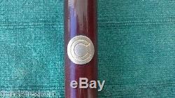 Cane Walking Stick Guayacan Wooden Horn Tip Sailor Smoke Pipe Handcarved Vintage