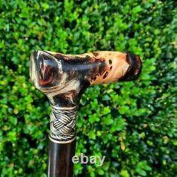 Cane Walking Stick Handmade Wooden Walking Cane Hybrid Acrylic Burl Handle Z2