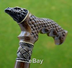 Canes Reed OAK tree Wooden Handmade Cane Walking Stick Unique Accessories DRAGON