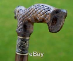 Canes Reed OAK tree Wooden Handmade Cane Walking Stick Unique Accessories FALCON