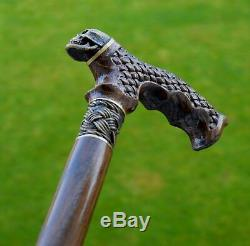 Canes Reed OAK tree Wooden Handmade Cane Walking Stick Unique Accessories PIRATE
