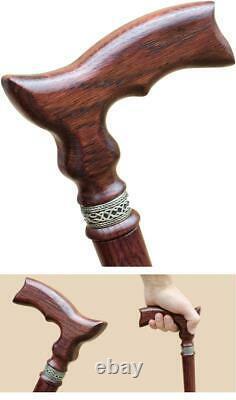 Classic Wooden Walking Cane for Women and Men Fancy Walking Sticks Cane