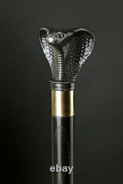 Cobra Walking Stick Wooden Cane for Gift Hand Carved Hiking Stick Handmade