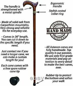 Cool Ergonomic Walking Stick Canes for Men and Women Unique Designer Wooden C