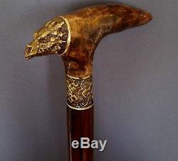 DRAGON Canes Walking Sticks Wooden BURL Handmade Men's Accessories Cane NEW