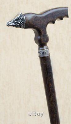 Designer Hand Carved Wooden Walking Stick Walking Cane Bear Fashionable Walking