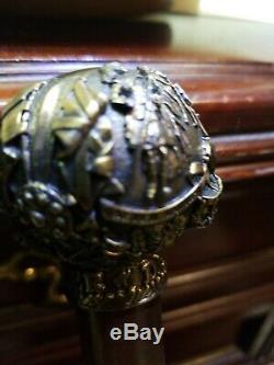 Dewar Highlander Knobbed Style Victorian Wooden Walking Stick/Cane