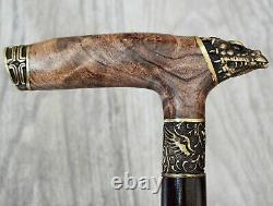 Dragon Stabilized Burl Handle Wooden Handmade Cane Walking Stick # A17