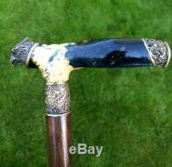 Eagle Gibrid BURL Wooden Handmade Cane Walking Stick Unique Accessories Canes