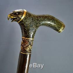 Eagle Gibrid Wooden Handmade Cane Walking Stick Unique Accessories Canes