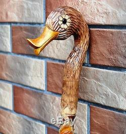 FOUR Canes! Cane Wood Walking Stick Wooden Handmade Hand Carving Exclusive Art 1