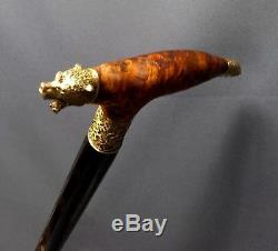 GRIZZLY BURL stabilized Wooden Handmade Cane Walking Stick Accessories Canes
