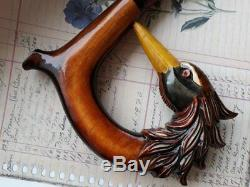 Hand carved snake Wooden walking stick snake Mother's Day Carved NW49