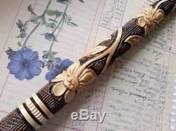 Hand carved walking sticks snake Walking staff snake Wooden cane NW13