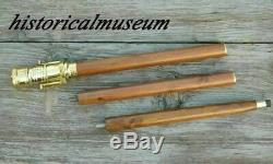 Lot OF 10 BRASS TELESCOPE WOODEN WALKING STICK CANE HANDLE Christmas Gift