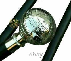 Lot of 9 Brass Wooden Walking Stick/Cane Working Style Genuine Wooden Handmade