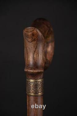 Luxury Foldable Wooden Cane, 3 Fold Travel Folding Collapsible Walking Stick