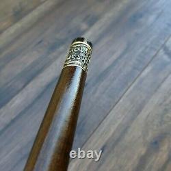 Mosaic Walking Stick Cane Oak/Alder Handle Wooden Handmade Exclusive Unique