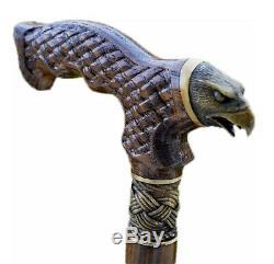 OAK Canes Walking Sticks Wooden Reed Handmade Men's Accessories Cane EAGLE
