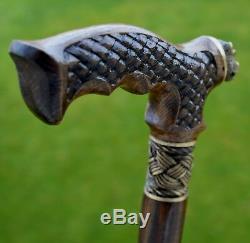 OAK Canes Walking Sticks Wooden Reed Handmade Men's Accessories Cane NEW! BEAR