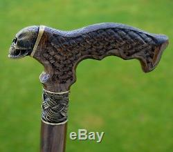OAK Canes Walking Sticks Wooden Reed Handmade Men's Accessories Cane SKULL