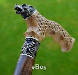 OAK Canes Walking Sticks Wooden Reed Handmade Men's Accessories Cane WOLF