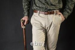 Original Aries Handmade Cane for Men, Wooden Walking Stick for Gift