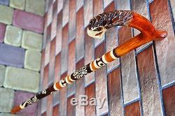 Set of 5 Walking Canes Walking Sticks Wood Wooden Handmade Sale Cane Stick