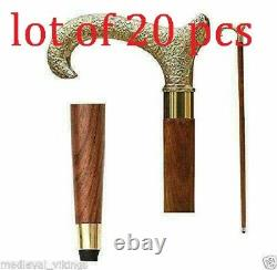 Silver Cane Wooden Walking Stick Handle Vintage Accessories Cans & stick
