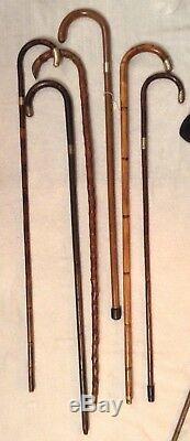 Silver HallMarked Wooden Walking Sticks X 6 offers