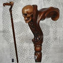 Skull Wooden Walking Stick Each Stick is Handmade